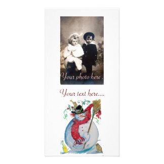 DRUNKEN SNOWMAN PHOTO CARD TEMPLATE