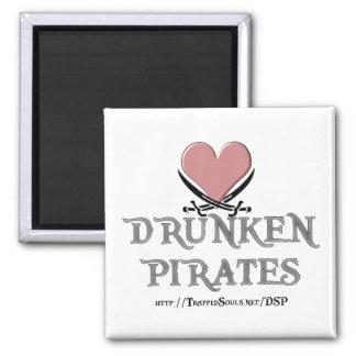 Drunken Space Pirates Square Magnet