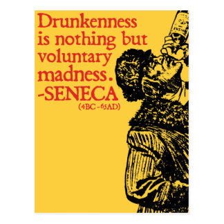 Drunkenness  - Roman quote postcard