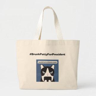#DrunkPattyForPresident Jumbo Tote Jumbo Tote Bag