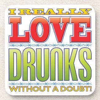 Drunks Love Beverage Coasters