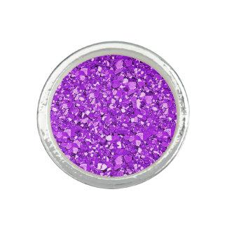 Druzy crystal - amethyst purple