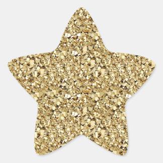Druzy crystal - metallic gold star sticker