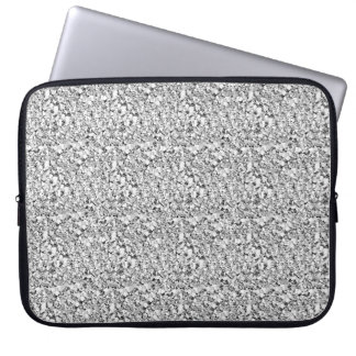 Druzy crystal - white gold color laptop sleeve