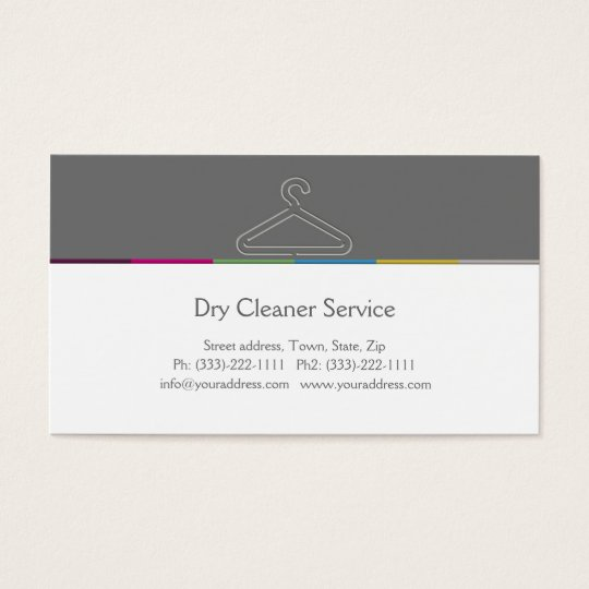 Dry cleaner service business card zazzle for Dry cleaners business cards