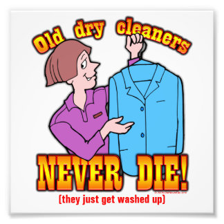 Dry Cleaners Photographic Print