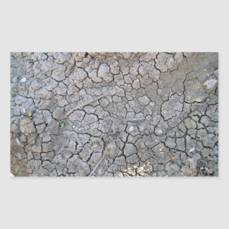 Dry Cracked Earth As Texture Rectangular Sticker