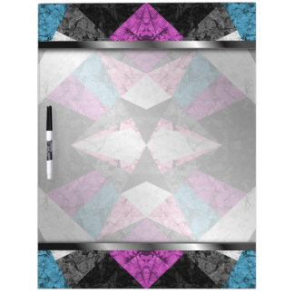 Dry-Erase Board Marble Geometric Background G438