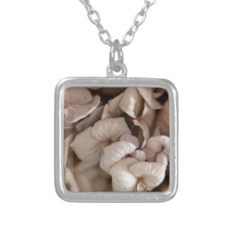 Dry Flowers Silver Plated Necklace