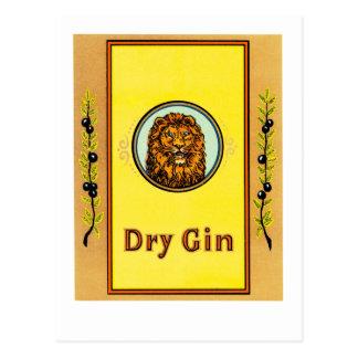 Dry Gin Lion Postcard