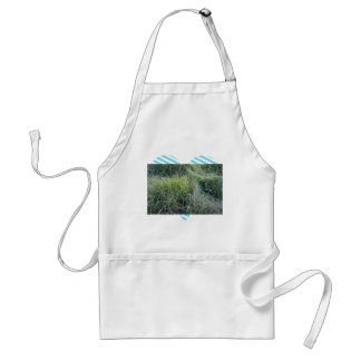 Dry grass in the water apron