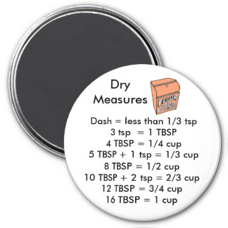 Dry Measurements ROUND magnet