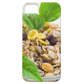 Dry mix of muesli and cereal in a bowl of glass barely there iPhone 5 case