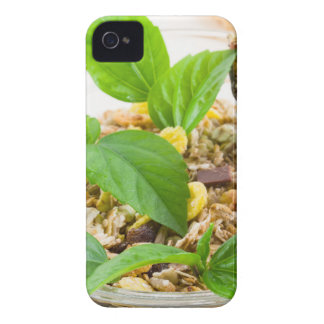 Dry mix of muesli and cereal in a bowl of glass iPhone 4 cases