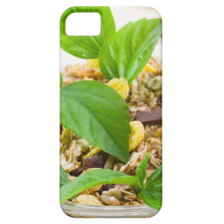 Dry mix of muesli and cereal in a bowl of glass iPhone 5 cases