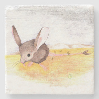 """Dry Mouse"" Stone Coaster"