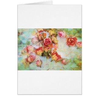 Dry roses vintage design card
