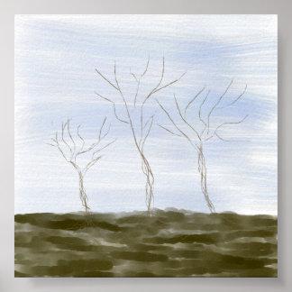 dry weeds print