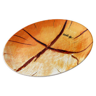 Dry Wood Is Necessary Plate