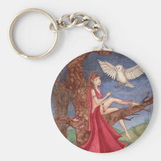 Dryad and the Night Owl Keychain