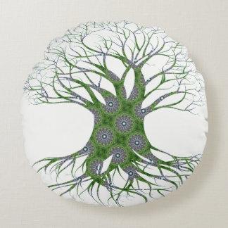 Dryad Tree (green) Round Cushion