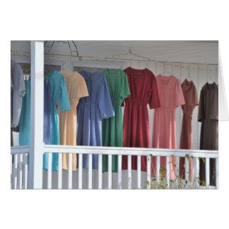 Drying Amish Laundry Card