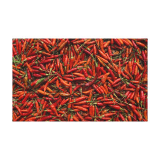 Drying Red Hot Chili Peppers Canvas Prints