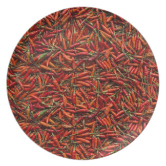 Drying Red Hot Chili Peppers Plate