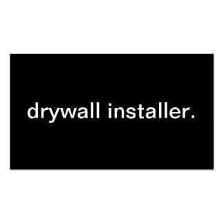 Drywall Installer Business Card Templates