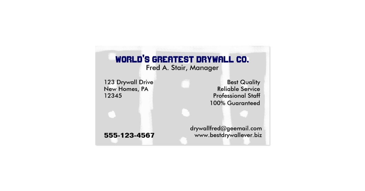 drywall business cards templates - 28 images - business cards ...