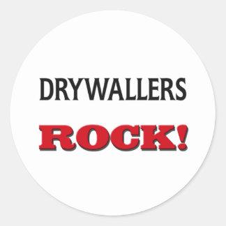 Drywallers Rock Round Sticker