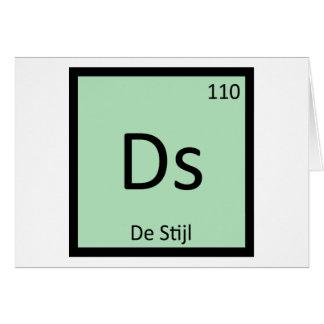 Ds - De Stijl Art Chemistry Periodic Table Symbol Greeting Card