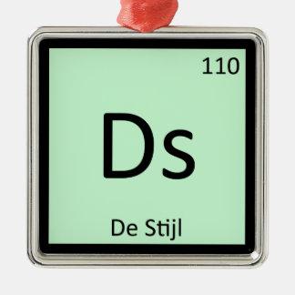 Ds - De Stijl Art Chemistry Periodic Table Symbol Christmas Ornaments