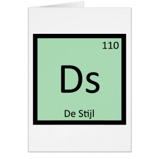 Ds - De Stijl Art Chemistry Periodic Table Symbol Greeting Card
