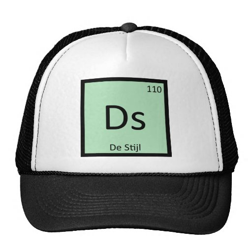 Ds - De Stijl Art Chemistry Periodic Table Symbol Hat