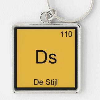 Ds - De Stijl Funny Chemistry Element Symbol Tee Keychain