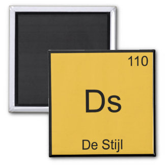 Ds - De Stijl Funny Chemistry Element Symbol Tee Magnet