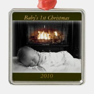 DSC00195, Baby's 1st Christmas, 2010 Metal Ornament