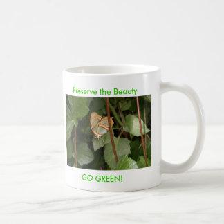 DSC00459, Preserve the Beauty, GO GREEN! Basic White Mug