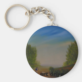 DSC00778,  let art drive you Basic Round Button Key Ring