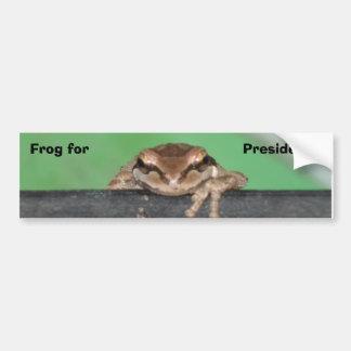 DSC03824, Frog for, President... Bumper Sticker