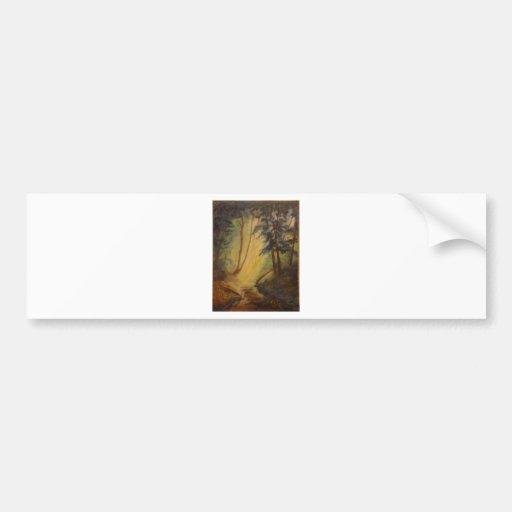 DSC_0002 - Wooded Cathedral.jpg Bumper Sticker