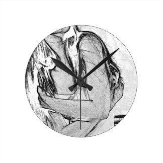 DSC_0390BWsk Wall Clock