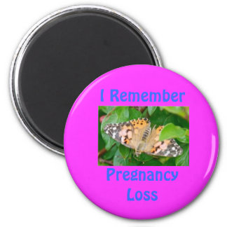 DSC_2340-1-1, I RememberPregnancy Loss 6 Cm Round Magnet