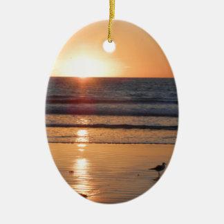 DSCN2716.JPG Sunrise at Cocoa Beach, Florida Ceramic Ornament