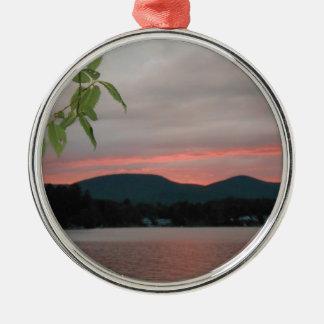 DSCN5689.JPG Sunset in the Berkshire Mountains Metal Ornament
