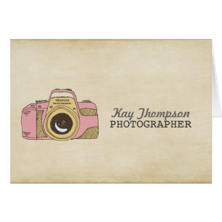 DSLR Camera Drawing Photographer Thank You Card