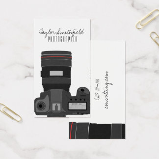 DSLR camera modern photography business card