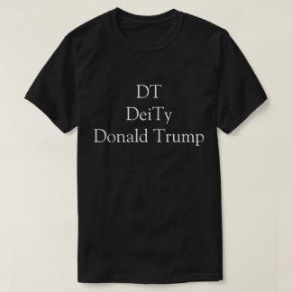 DT, DeiTy, Donald Trump, White on Black Fan Funny Shirts