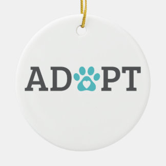 DTDR Adopt Porcelain Ornament
